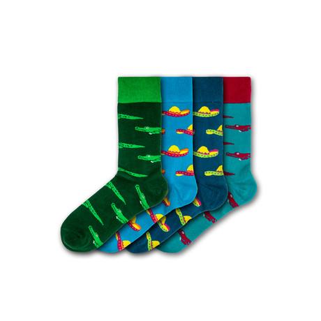 Crealy Theme Park Socks // Set of 4