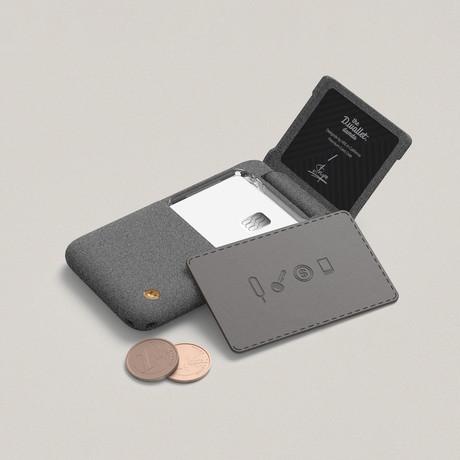 Damda Wallet Folder Type // Sand Stone (Clear)