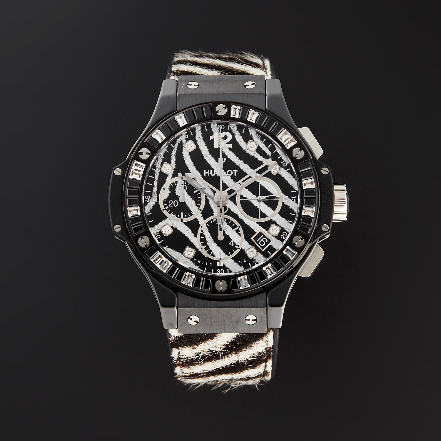 Hublot Ladies Big Bang Zebra Chronograph Automatic // 341.CV.7517.VR.1975  // Store Display - Exquisite Timepieces - Touch of Modern
