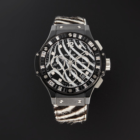 Hublot Ladies Big Bang Zebra Chronograph Automatic // 341.CV.7517.VR.1975 // Store Display