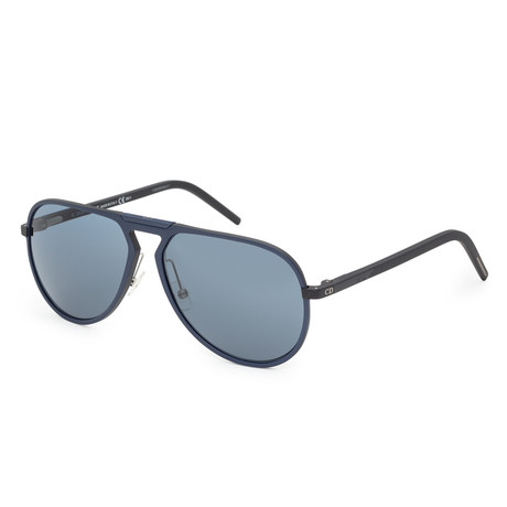 Men's AL13-2-02K7-9A Sunglasses // Blue + Black