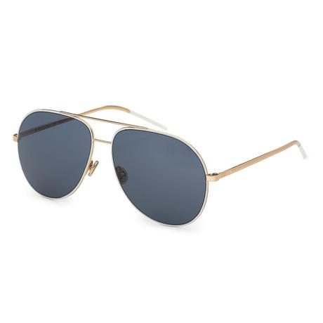 Women's Astral Sunglasses // White + Gold + Blue