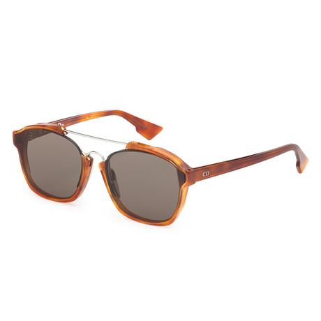 Women's Abstract Sunglasses // Light Havana + Brown