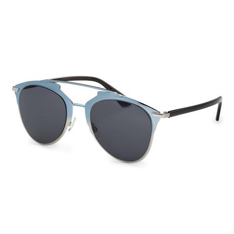 Unisex Reflected Sunglasses // Blue + Gray Blue