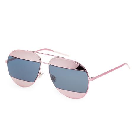 Unisex Split Aviator Sunglasses // Pink + Violet + Blue