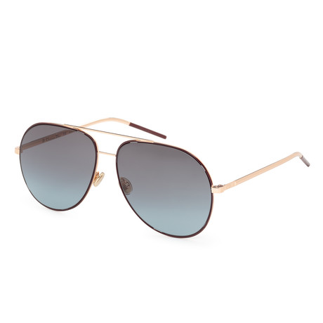 Women's Astral Sunglasses // Burgundy + Gold + Dark Blue Gradient