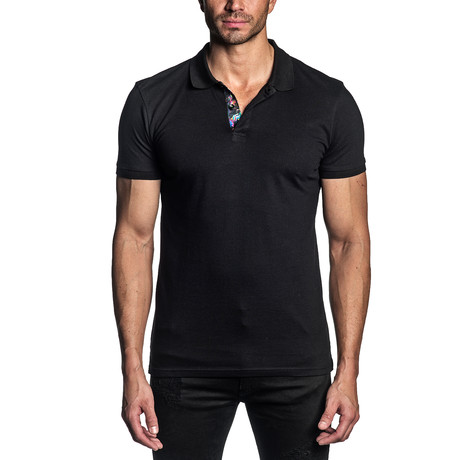 Jeffery Knit Polo // Black (S)