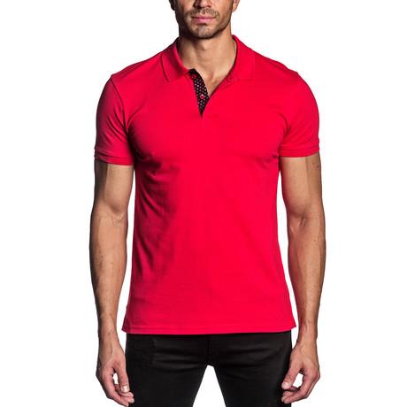 Luke Knit Polo // Red (S)