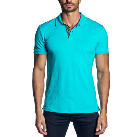 Cole Knit Polo // Turquoise (S)