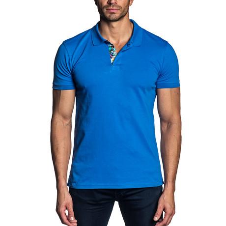Isaac Knit Polo // Royal Blue (S)