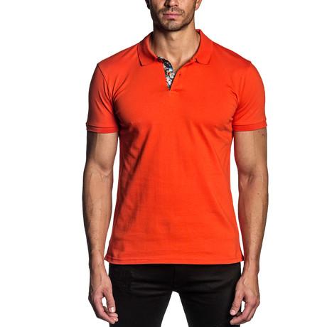 Dylan Knit Polo // Orange (S)