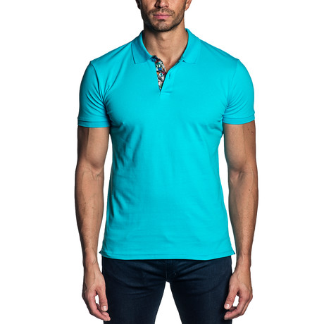 Marco Knit Polo // Turquoise (S)