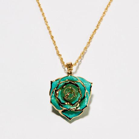 Teal Rhapsody Eternal Necklace