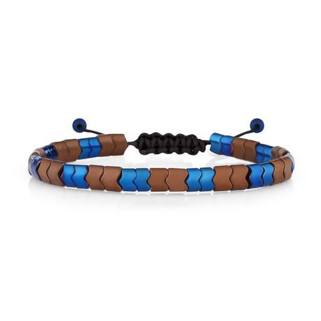 Denali Bracelet // Navy Blue + Brown