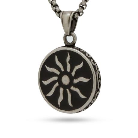 Solar Symbol Necklace // Silver