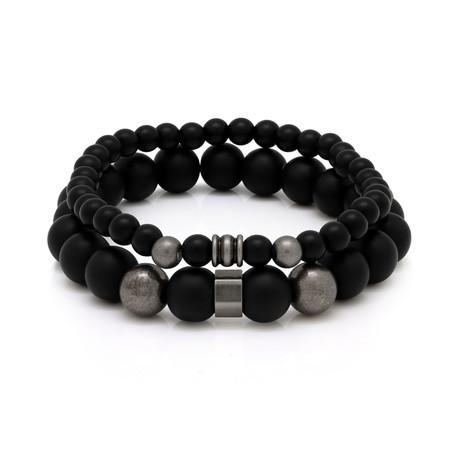 Onyx Protection Set // Black + Silver