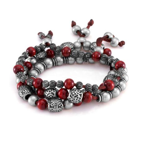 The Steel Tibetan Bracelet // Silver