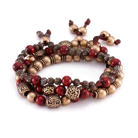 The Steel Tibetan Bracelet // Gold