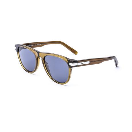 Men's SF916S-322 Sunglasses // Khaki + Blue