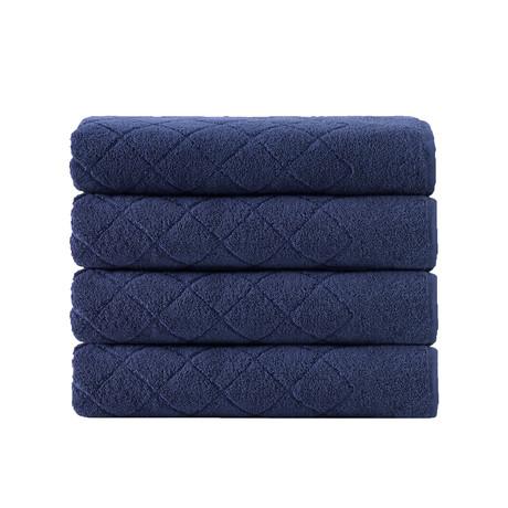 Samsun // 4 Piece // Bath Towels (Green)