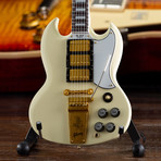 Gibson 1964 SG Custom White Mini Guitar Replica