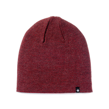 Linea Beanie // Anthracite + Red