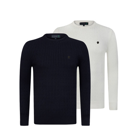 Handsome Pullover 2-Pack // Navy + White (S)