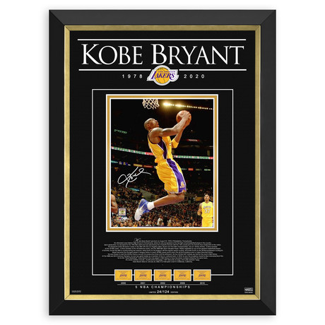 Kobe Bryant // Tribute To An NBA Legend Framed Photo // Facsimile Signed (8 of 124)