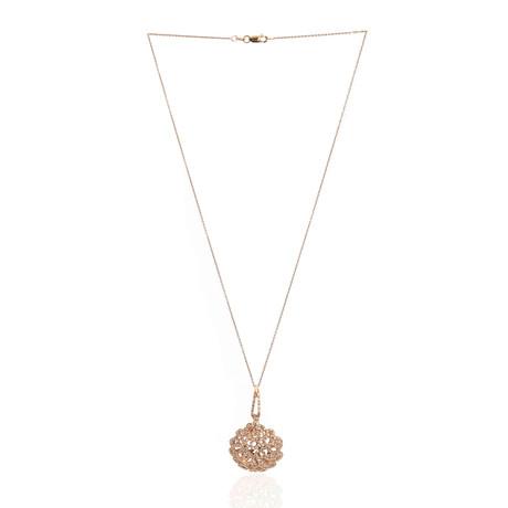 Roberto Coin 18k Rose Gold Diamond Pendant Necklace II