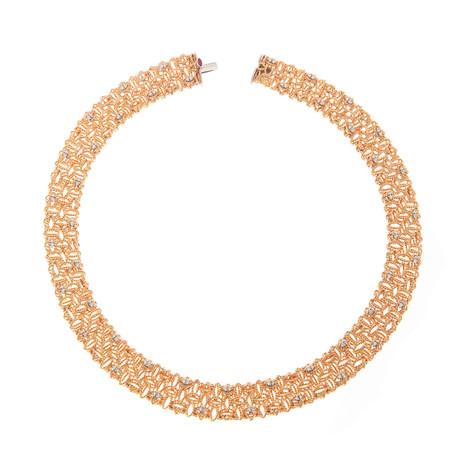 Roberto Coin 18k Two-Tone Gold Diamond Collar Necklace I