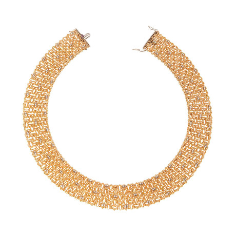 Roberto Coin 18k Two-Tone Gold Diamond Collar Necklace II