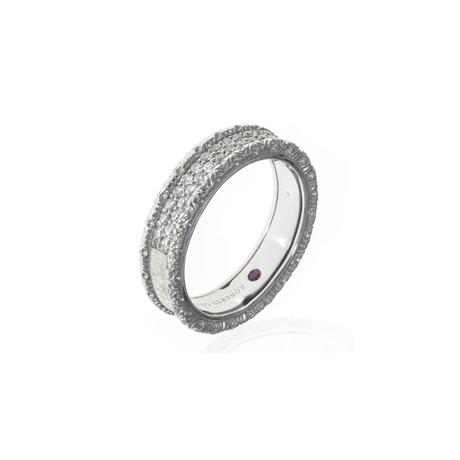 Roberto Coin 18k White Gold Diamond Statement Ring // Ring Size: 6.5