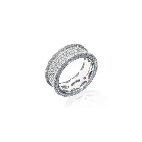 Roberto Coin 18k White Gold Diamond Statement Ring // Ring Size: 7.75