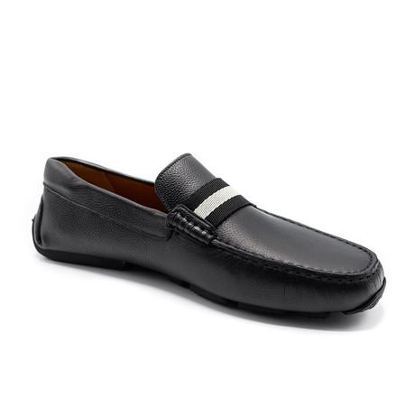 Men's Leather Driver Shoes V1 // Black (US: 7)