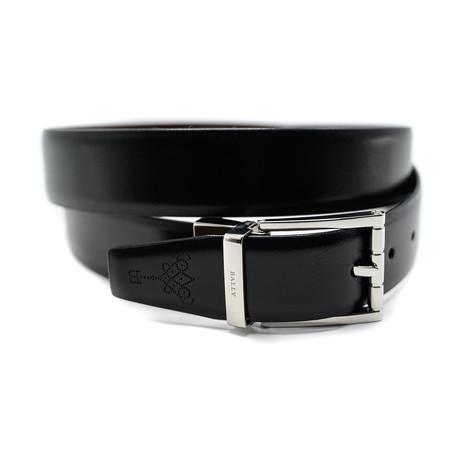 Men's Astori Adjustable + Reversible Split Bovine Leather Belt // Black