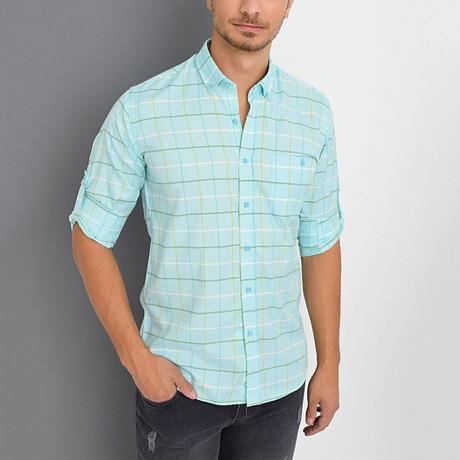 Ruben Shirt // Turquoise (Small)