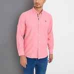 Eli Button-Up Shirt // Pink (Small)