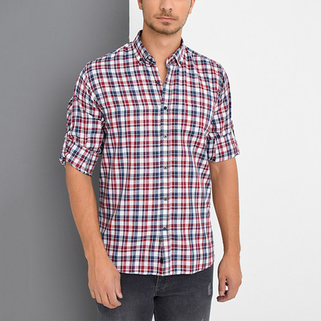 Dick Button-Up Shirt // Burgundy (Small)
