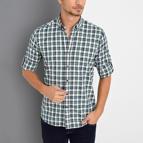 Tommie Button-Up Shirt // Green (Small)