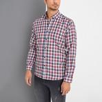 Dick Button-Up Shirt // Burgundy (Small)