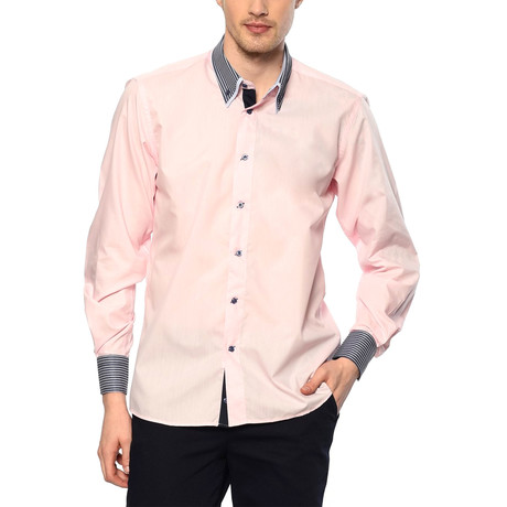 Daniel Button-Up Shirt // Pink (Small)