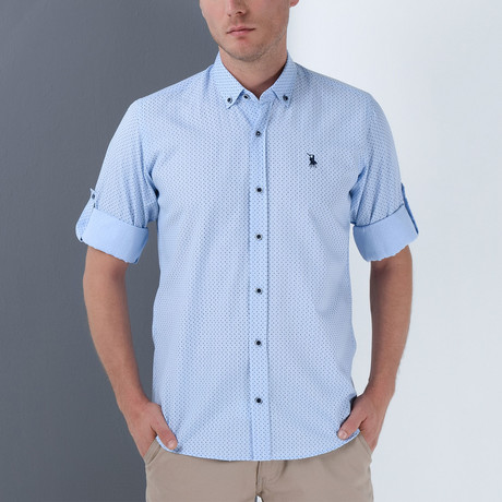 Joey Button-Up Shirt // Blue (Small)