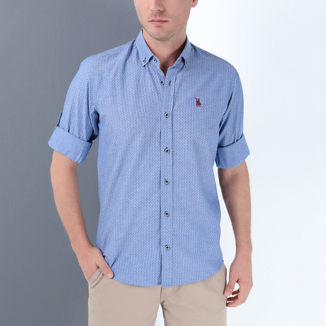 Joey Button-Up Shirt // Dark Blue (Large)