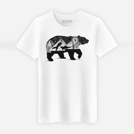 Bear And Foxes T-Shirt // White (S)