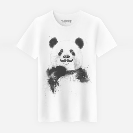 Funny Panda T-Shirt // White (S)