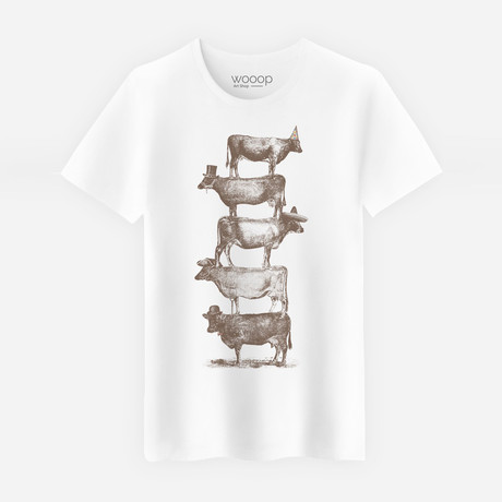 Cow Cow Nuts T-Shirt // White (S)