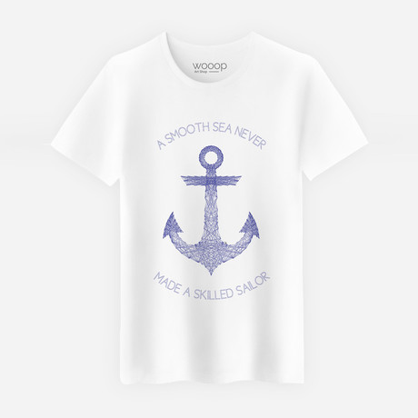 Smooth Sea T-Shirt // White (S)