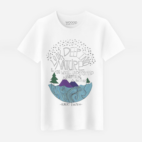 Deep Into Nature T-Shirt // White (S)