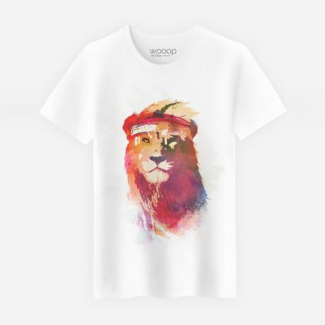 Gym Lion T-Shirt // White (S)