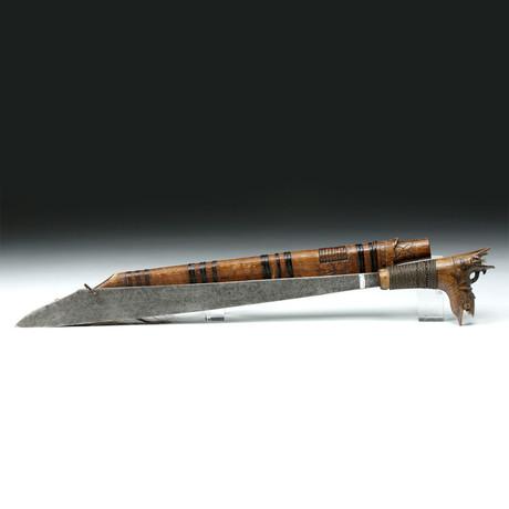 Rare Early 20th C. Dayak Child's Sword & Sheath